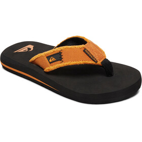 Quiksilver Monkey Abyss Sandals Youth, black/orange/orange